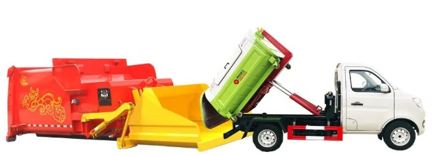 重庆长安车厢可卸式垃圾车