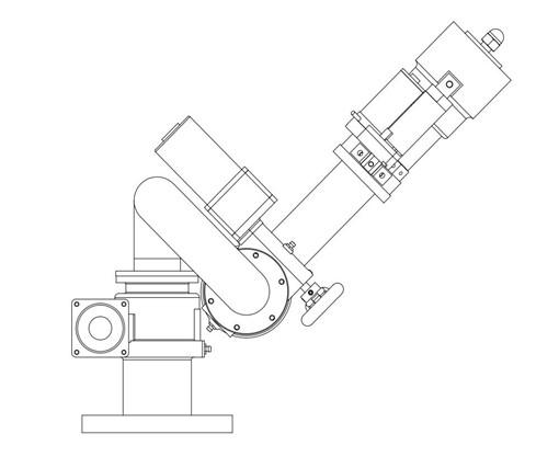 洒水车电动高压电子水炮结构图