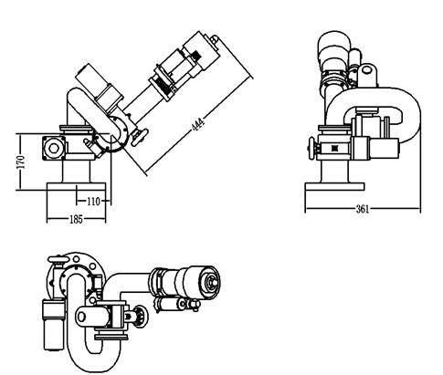 洒水车电动高压电子水炮外形结构