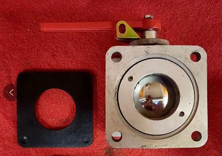 DN65直通球阀(带胶垫)