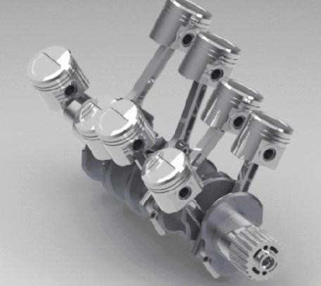 V型8缸发动机