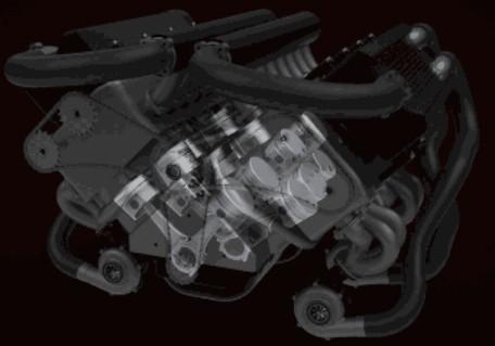 W型16/12缸发动机