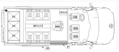 齐星牌QXC5042XZH指挥车结构图片