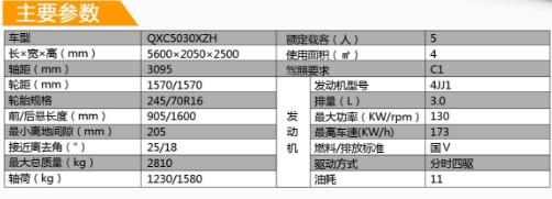 齐星牌QXC5030XZH指挥车产品参数