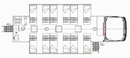 东风天龙后双桥宿营车结构图片