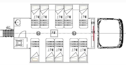 老款东风153驾驶室宿营车结构图片