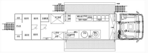 重汽汕德卡后八轮餐车结构图片