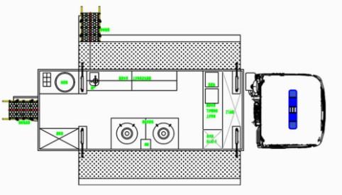 庆铃五十铃单桥餐车结构图片