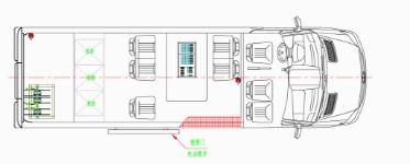 奔驰电视车结构图