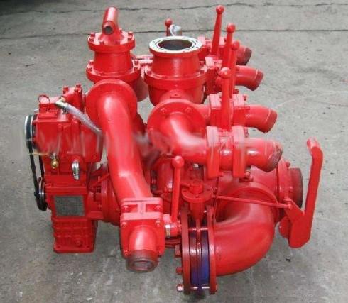 消防车上的消防泵图片