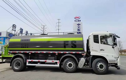 国六20吨东风天锦小三轴洒水车多方位图片