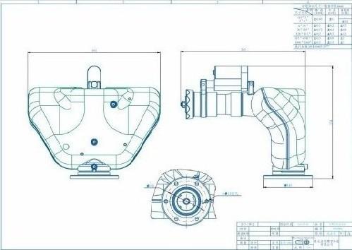 洒水车护罩版电动洒水炮结构尺寸图纸
