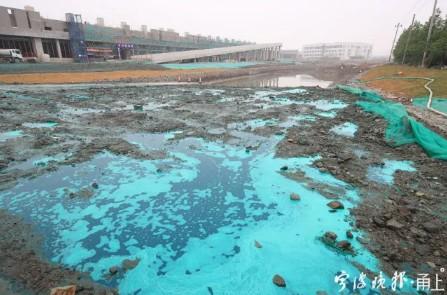 这绿色水雾是一种新型抑尘剂